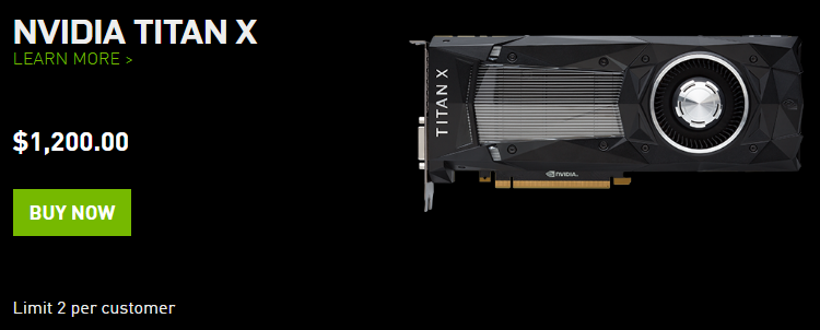 Видеокарта NVIDIA TITAN X