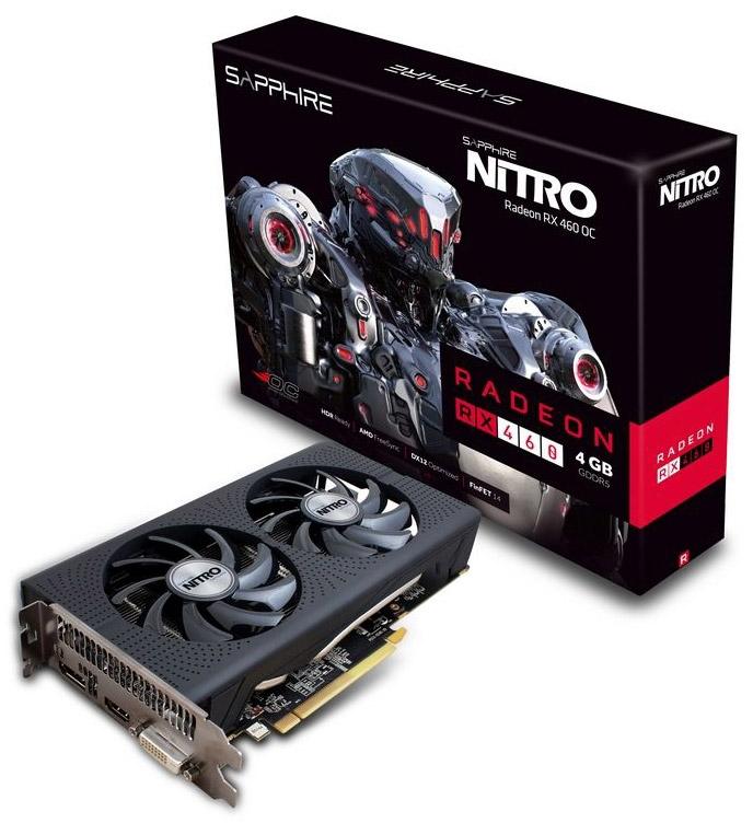 Видеокарта Sapphire Nitro Radeon RX 460 4G D5