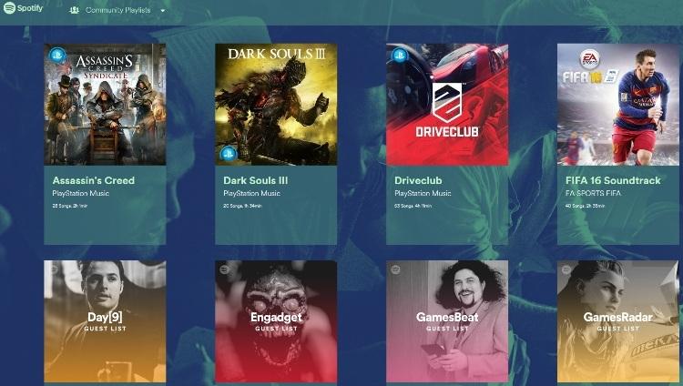 Spotify собрала аудиотреки из популярных видеоигр в отдельном проекте