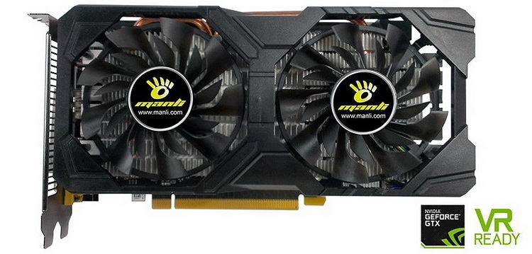 Manli GeForce GTX 1060 6GB Twin Cooler