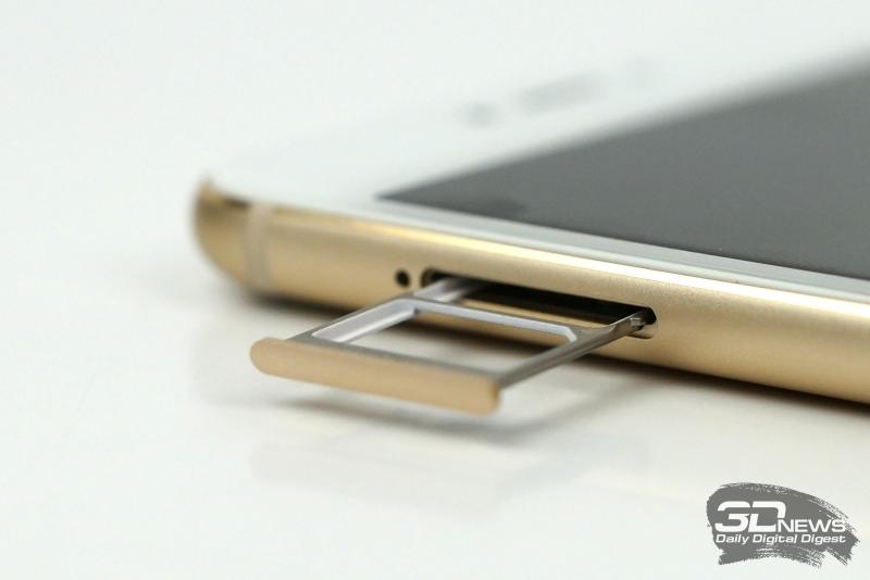 Meizu MX6, слот для двух SIM-карт