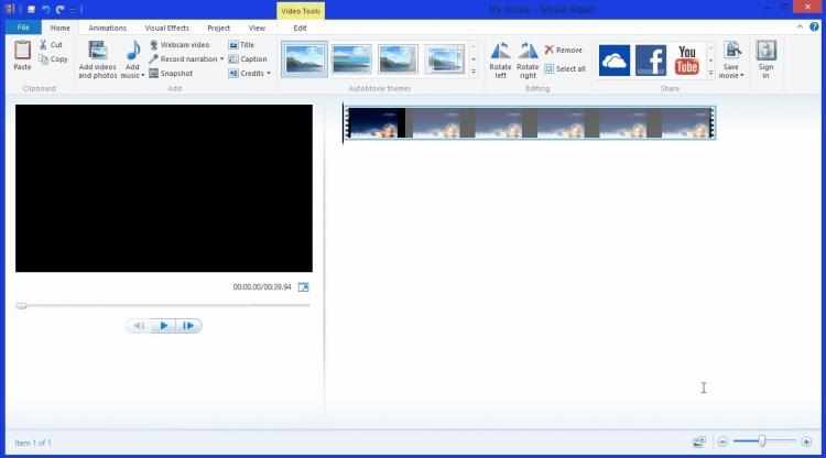 Так Windows Movie Maker выглядит сейчас