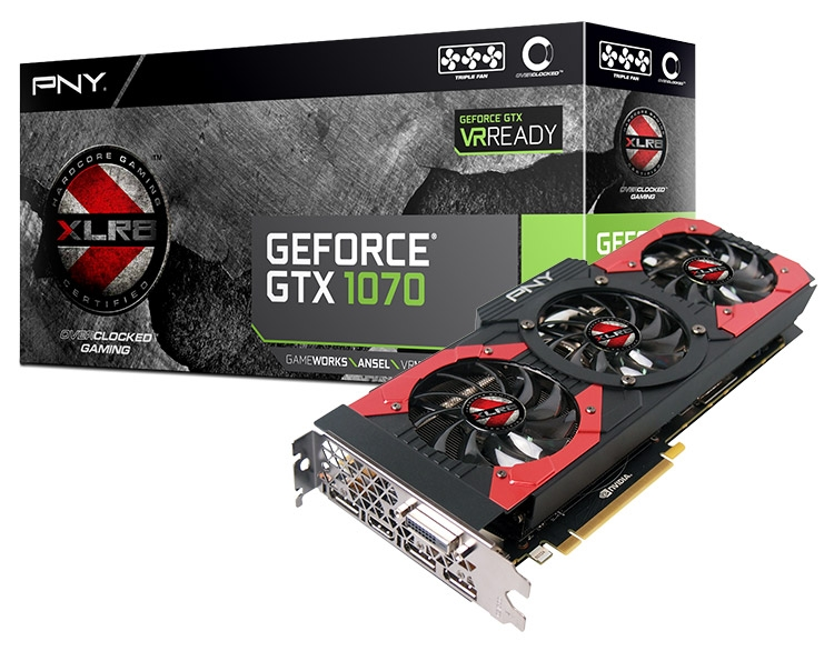Видеокарта PNY GeForce GTX 1070 XLR8 Gaming OC