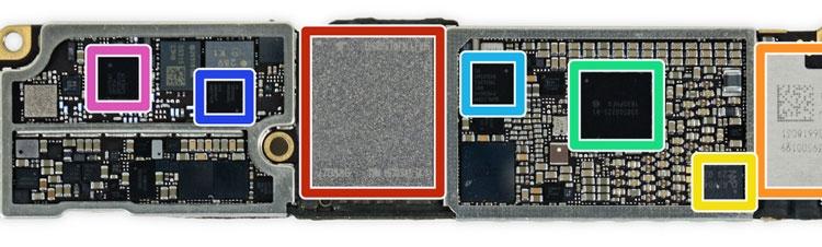 Плата с процессором модели Apple iPhone 7 (iFixit)