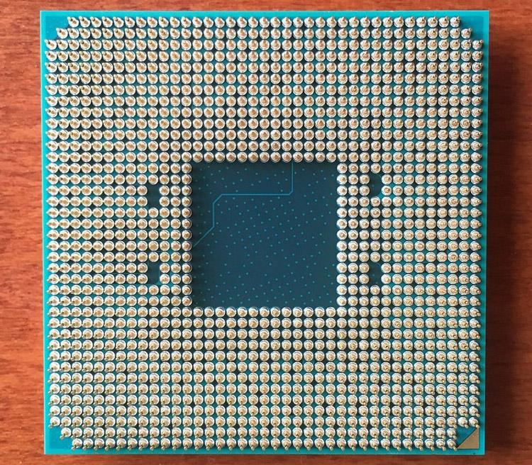 «Брюшко» процессора AMD AM4 с 1331 контактом