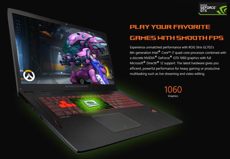Ноутбук ASUS ROG Strix GL702VM