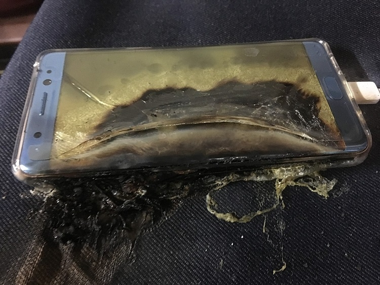 Неприятный инцидент с Galaxy Note 7