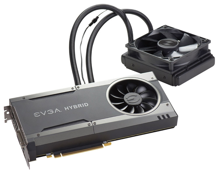 Видеокарта EVGA GeForce GTX 1070 FTW Hybrid Gaming