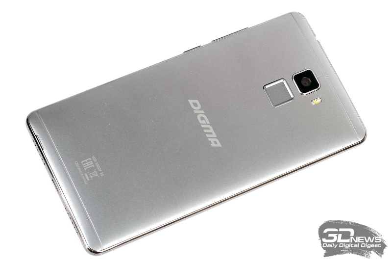 Digma VOX S502F 3G – задняя панель
