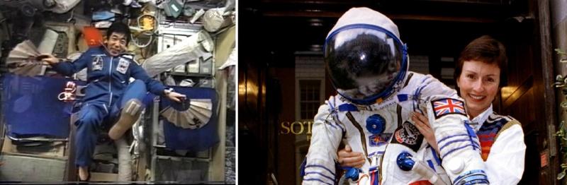 Тоёхиро Акиями и Хелен Шарман – первые коммерческие космонавты