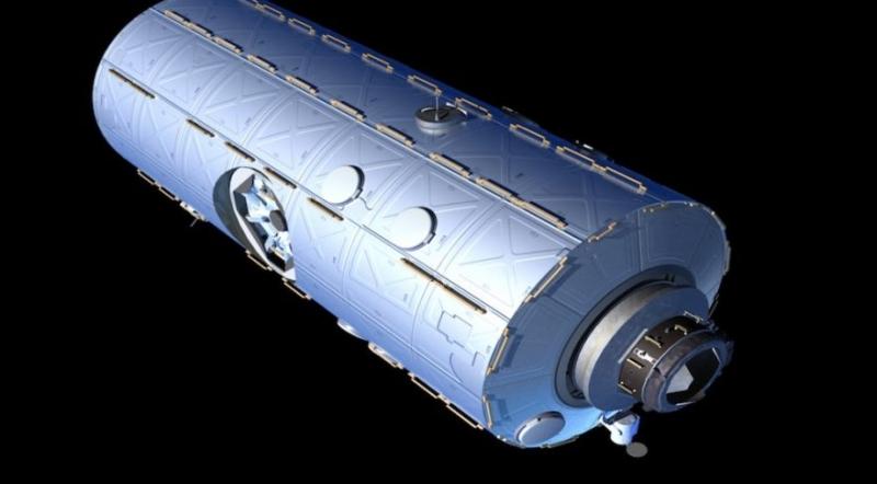 Коммерческий модуль для работы в составе МКС. Графика компании Axiom Space LLC