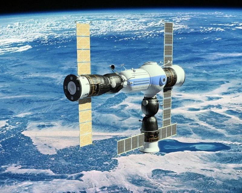 Коммерческая космическая станция, предложенная компанией «Орбитальные технологии», могла бы принять одновременно два пилотируемых корабля «Союз ТМА» и один грузовой «Прогресс М». Графика компании «Орбитальные технологии»