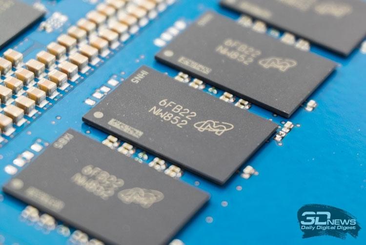 В основе SSD Crucial MX300 лежит память Micron TLC 3D NAND