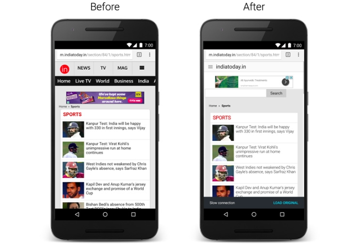 Оптимизация веб-страниц в обновлённом Chrome для Android