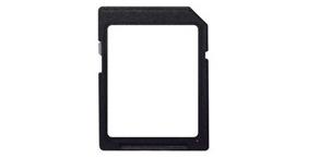 Это не рамка для нестандартных карт памяти: белая наклейка служит для подписывания содержимого SD-карты