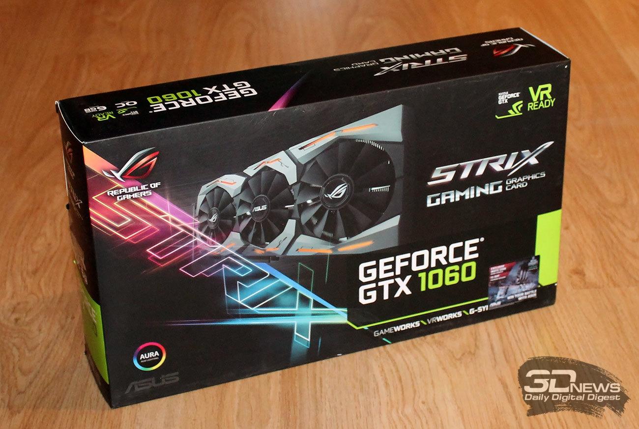 Обзор и тестирование видеокарты ASUS ROG Strix GTX 1060 OC