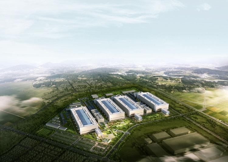 Новый завод Samsung в Южной Корее (http://www.koreaherald.com)