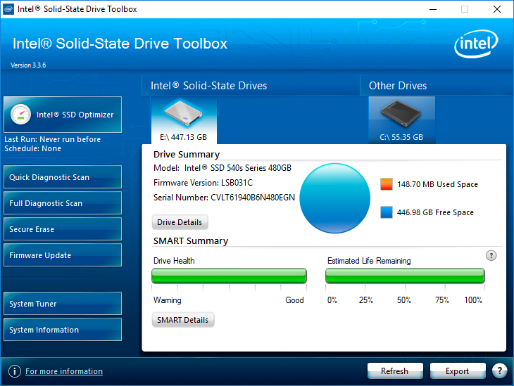 Утилита Intel SSD Toolbox поможет обновить firmware