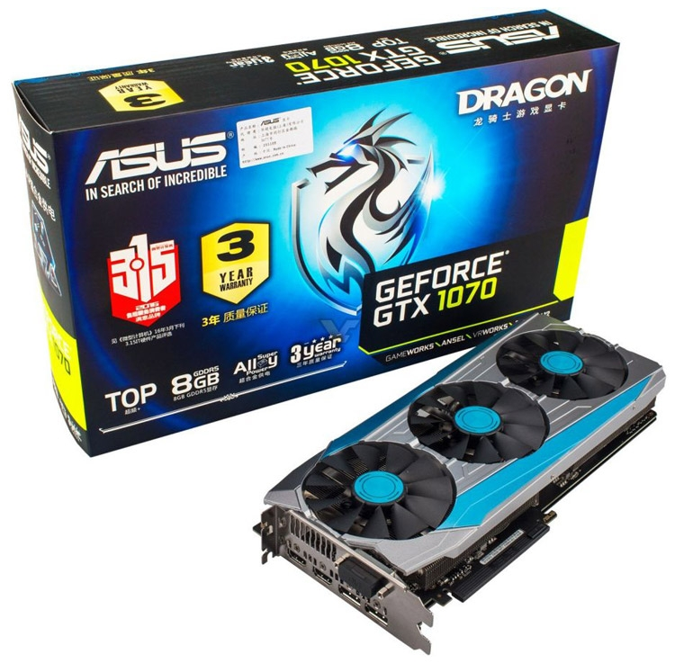 ASUS GeForce GTX 1070 8GB Dragon Top (Dragon GTX1070-Top8G)