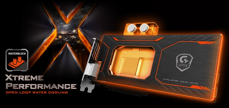 Видеокарта Gigabyte GeForce GTX 1080 Xtreme Gaming WaterForce WB 8G (модель GV-N1080Xtreme WB-8GD)