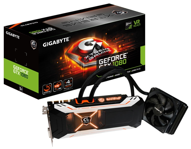 Gigabyte GTX 1080 Xtreme WaterForce 8G rev. 2.0