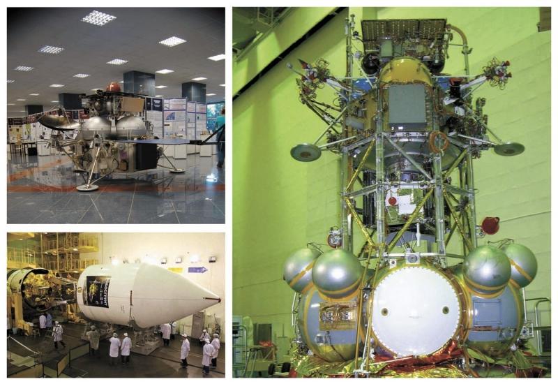 Участие в проекте ExoMars даёт российским учёным возможность проверить решения и идеи, разработанные для миссий «Марс-96», «Фобос-Грунт» и «Марс-НЭТ». На коллаже – станция «Фобос-Грунт», фото ИКИ РАН, Роскосмос, НПО имени С. А. Лавочкина