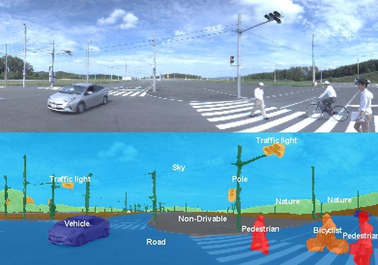 Концепция работы системы автоматического распознавания объектов (Toshiba)
