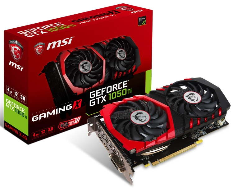 Видеокарта MSI GeForce GTX 1050/1050 Ti (серия Gaming)
