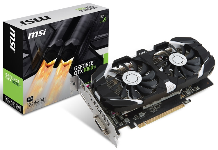 Видеокарта MSI GeForce GTX 1050/1050 Ti (серия GT)