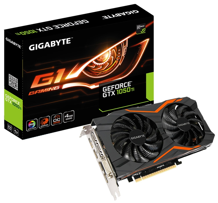 Видеокарта Gigabyte GeForce GTX 1050 Ti G1 Gaming