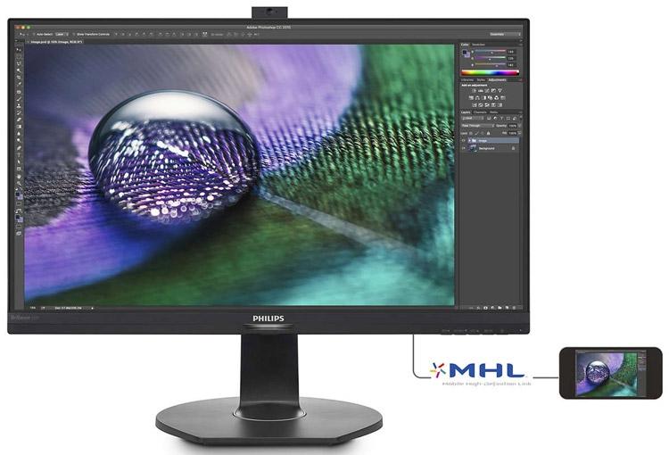 Одна из особенностей монитора — поддержка интерфейса MHL 2.0