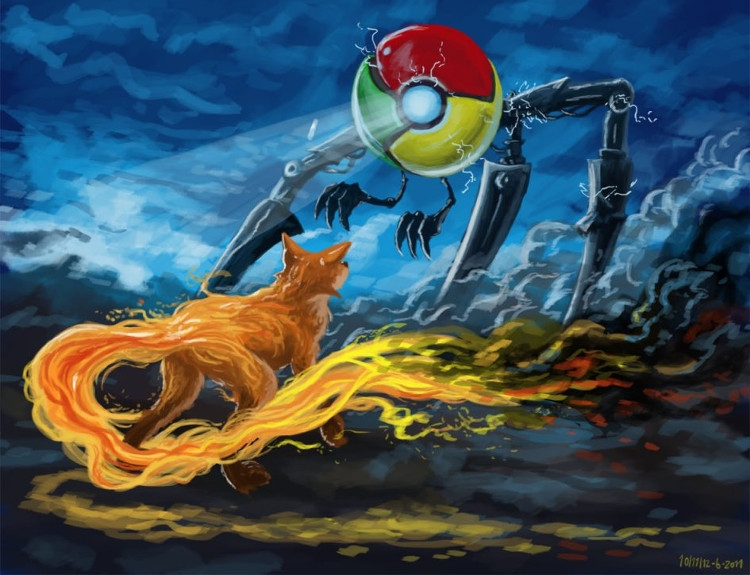 Chrome vs. Firefox (Источник: VentureBeat)