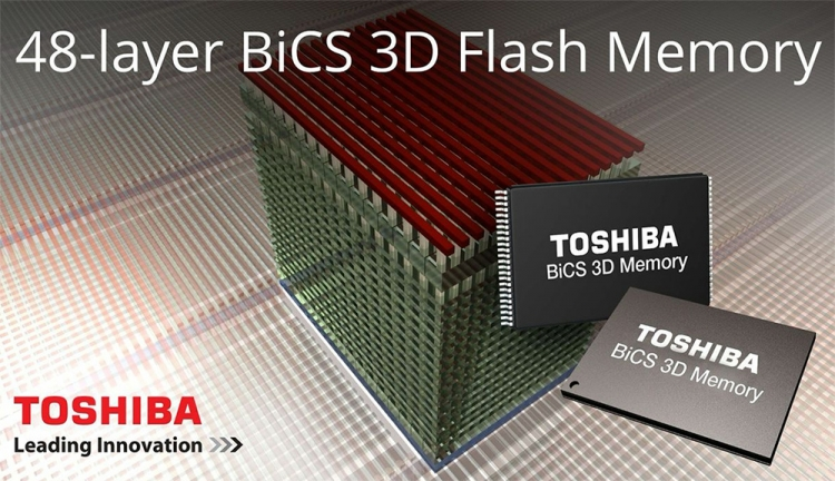Схематическое изображение BiCS 3D NAND