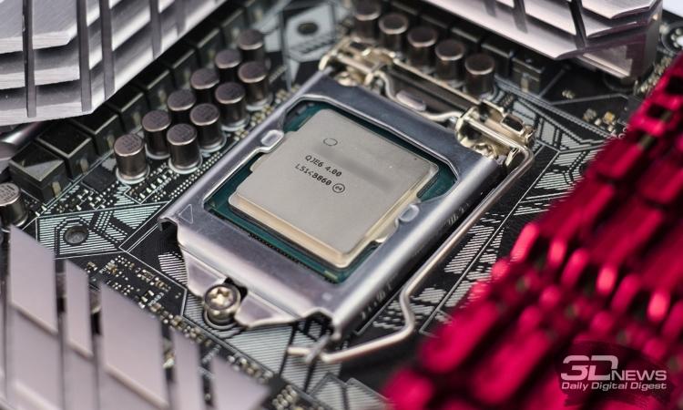 Процессор Intel в форм-факторе LGA1151. Иллюстративное фото.