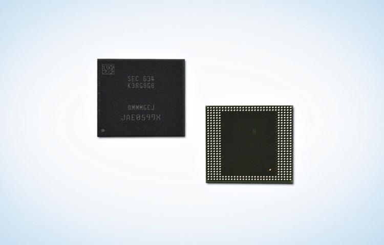 8-Гбайт микросхемы Samsung LPDDR4 DRAM