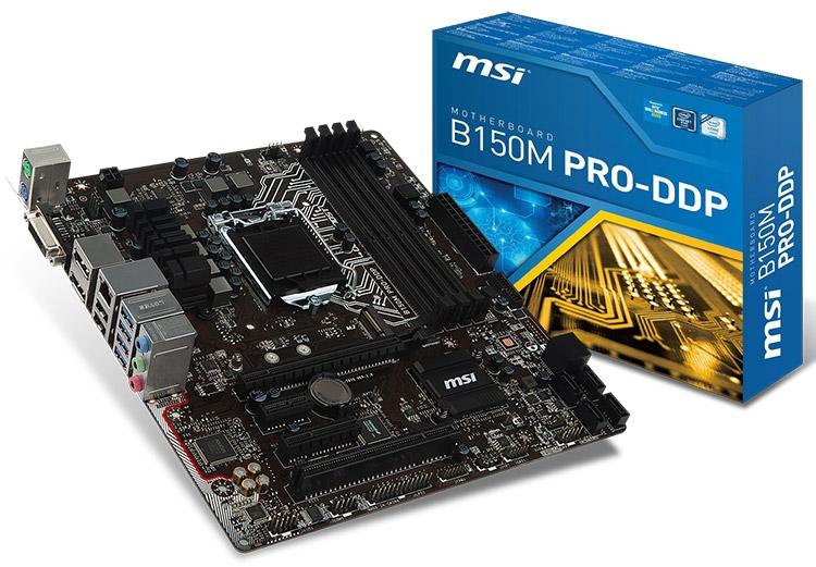 Материнская плата MSI B150M PRO-DDP