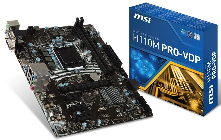 Материнская плата MSI H110M PRO-VDP