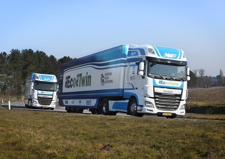 Новые разработки нацелены на управление колоннами автономных грузовиков