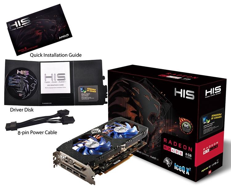 Видеокарта HIS Radeon RX 480 IceQ X² OC