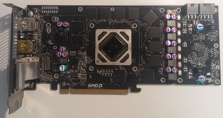Видеокарта Radeon R9 285X (инженерный семпл)