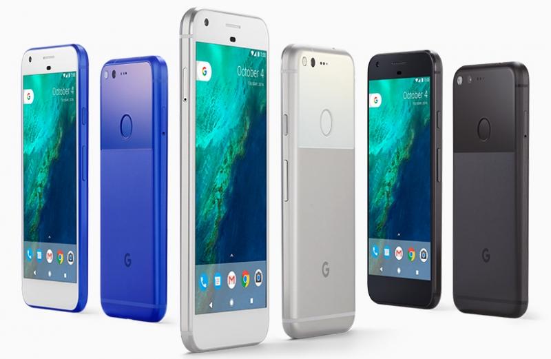 Google Pixel в разных цветовых исполнениях. Официальное фото