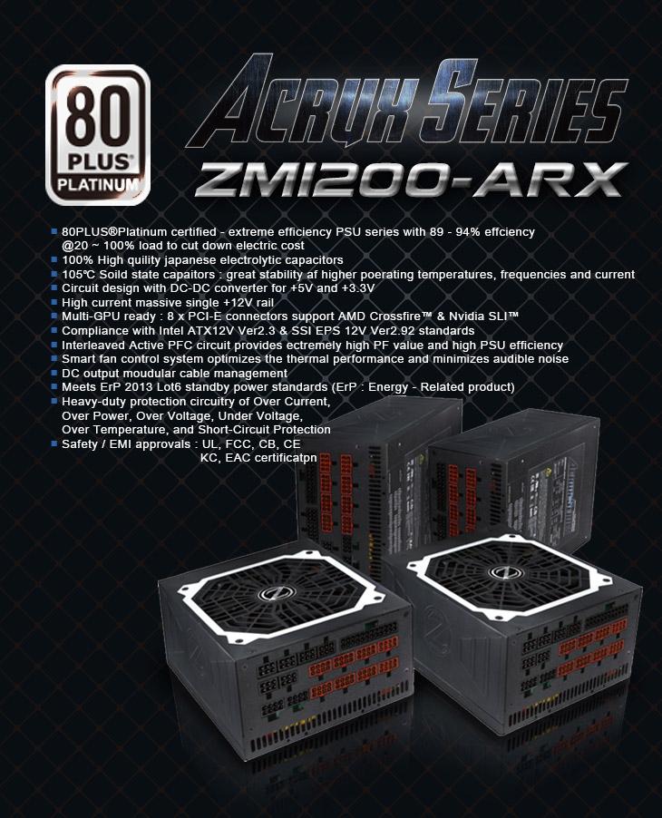 Блок питания Zalman Acrux Series