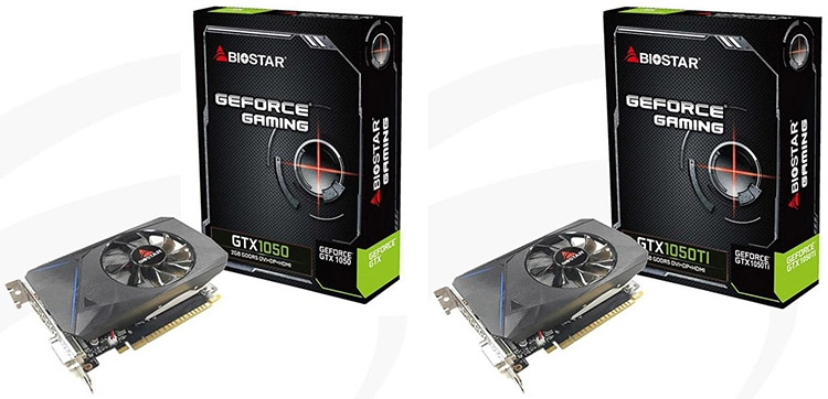 Biostar VN1055TF41/Single Cooling (GeForce GTX 1050 Ti) и VN1055XFX1 (GeForce GTX 1050)