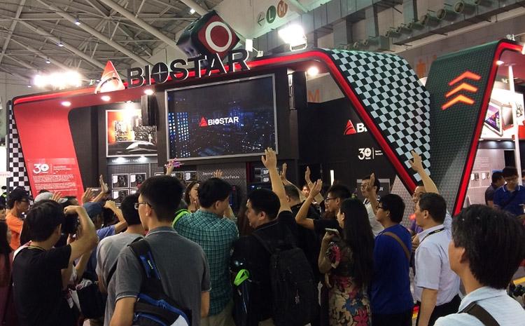 Стенд Biostar на выставке Computex 2016 (фото itvoice.in)