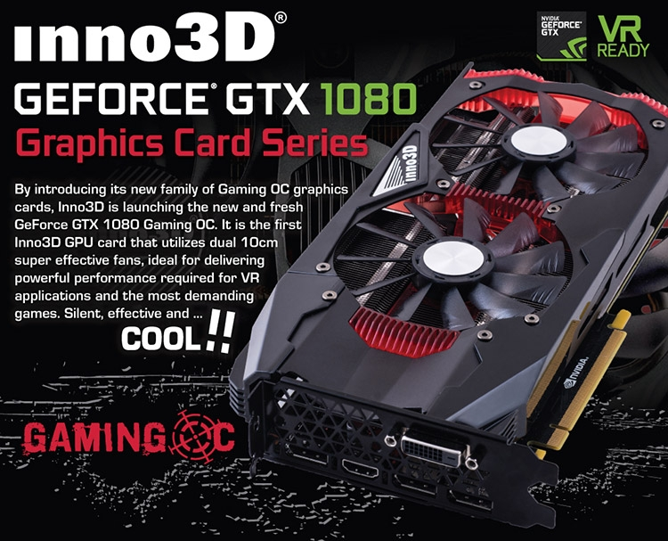 Видеокарта Inno3D GeForce GTX 1070 Gaming OC