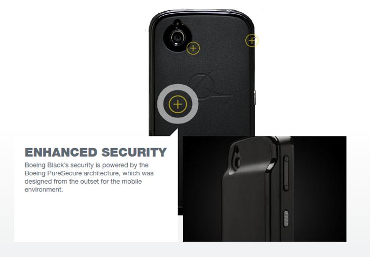 Защищённый смартфон Boeing Black