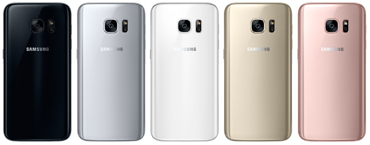Samsung Galaxy S7 предлагается сейчас в пяти цветах