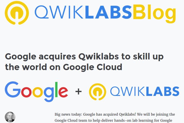 Google поглотила Qwiklabs