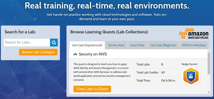 Qwiklabs предоставляет платформу для обучения облачным технологиям
