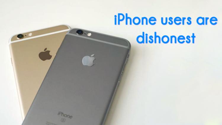 По данным исследования, пользователи iPhone чаще склонны к нечестности